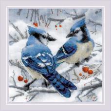 Набор для вышивания крестом Риолис Голубые сойки (1925)