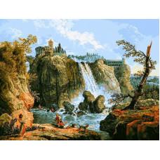 Водопад осенью (G459)*
