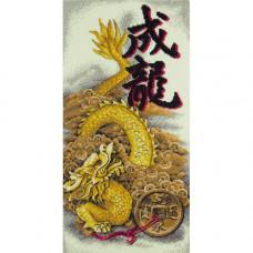 Набор для вышивания крестом Panna Золотой дракон (И-1938)