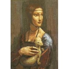 Набор для вышивания крестиком Чарівна мить Дама с горностаем (295)