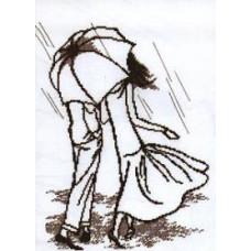 Набор для вышивания крестиком Чарівна мить Под дождём (363)