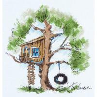 Набор для вышивания крестом Panna Домик на дереве (ПС-1952)