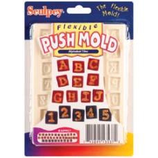Форма для пластика Sculpey EZ Release Push Mold Alpha Tiles (APM.37)