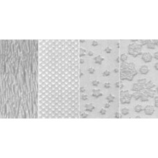 Текстурные пластины для пластика Set D (Scale/Snowflake/Woodgrain/Stars)  (380-4)