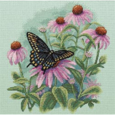 Бабочка на маргаритке (35249)