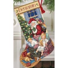 Набор для вышивания крестом Dimensions Рождественский сапожок Сладкий сон (8740)