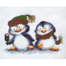 Набор для вышивания крестиком Чарівна мить Пингвинчики (А-040)