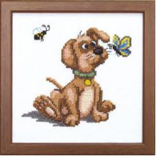 Набор для вышивания крестиком Чарівна мить Игры щенка (А-071)