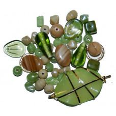 Набор бусин и бисера Dress It Up Beads, Green Apple, 28 гр. (2525)