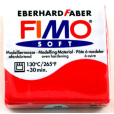 Полимерная глина Fimo Soft, Cherry Red (8020-26)