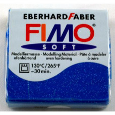 Полимерная глина Fimo Effect Glitter Blue (8020-302)