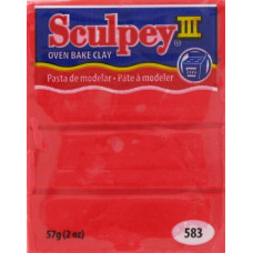 Полимерная глина Sculpey III Polymer Clay, Hot Red (583)