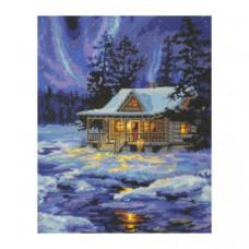 Набор для вышивания крестом Dimensions Зимняя хижина (71-20072)