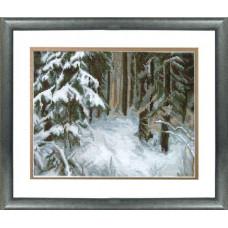 Сугробы в лесу (532)