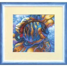 Набор для вышивания крестиком Чарівна мить Голубая рыба (СТ-37)