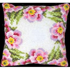 Набор для вышивания крестиком Чарівна мить Подушка Цветочный венок (РТ-114)