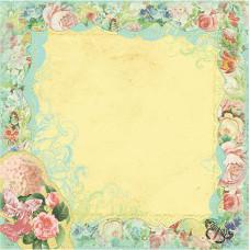 Лист бумаги 30х30 Art Stitched Mulberries Birdbath (813307) (046)