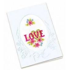Набор для вышивания крестом Риолис Открытка с любовью (387)