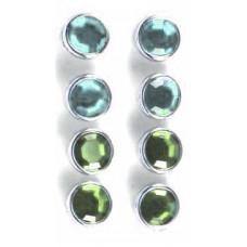 Брадсы большие кристальные Голубые и Зелёные (D86-GB)