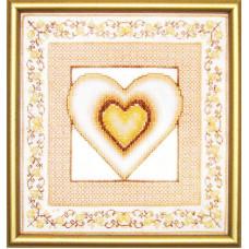 Набор для вышивания крестиком Чарівна мить Сердце (СТ-22)