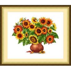 Набор для вышивания крестиком Сделано с любовью Букет солнечного света (ЦВ-031)