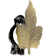 Клипса Листик, античное золото*