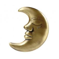 Клипса Месяц, античное золото