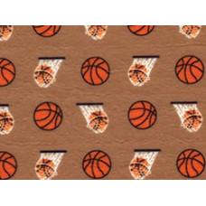 Фетр (войлок) листовой с узорами (баскетбол), 30 х 23 (PRT-01136)