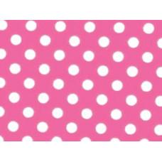 Фетр (войлок) листовой с узорами (белый горошек на розовом), 30 х 23 (PRT-01249)