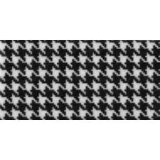 Фетр (войлок) листовой с узорами (ломаная клетка), 30 х 23,черно-белая (PRT-49397)