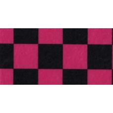 Фетр (войлок) листовой с узорами (клетка), 30 х 23,розово-черная (PRT-49402)