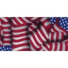 Фетр (войлок) листовой с узорами (американский флаг), 30 х 23 (PRT-49406)