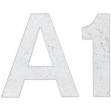 Комплект цифр и букв из фетра на самоклейке, белый луч (NL-01233)