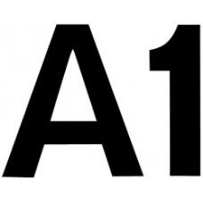 Комплект цифр и букв из фетра на самоклейке, черный (NL-01674)