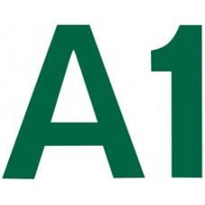 Комплект цифр и букв из фетра на самоклейке, зеленый (NL-01675)