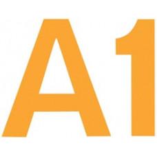 Комплект цифр и букв из фетра на самоклейке, золотой (NL-01676)