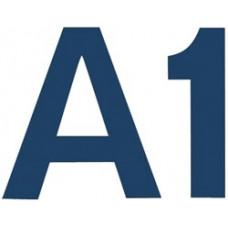 Комплект цифр и букв из фетра на самоклейке, синий (1NL-01570)