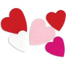 Комплект сердечек из фетра на самоклейке (FSSIF-02/01394)