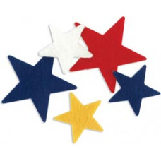 Комплект звездочек из фетра на самоклейке (FSSIF-03/01393)