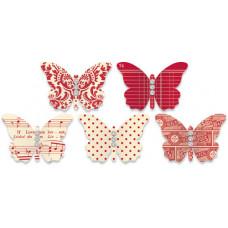 Украшения Бабочки Красные (461)