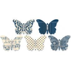 Украшения Бабочки Синие (466)