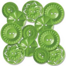 Декоративные пуговицы Зеленые (472)