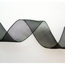 Капроновая лента, чёрная, 6мм
