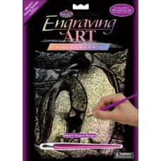 Набор для выцарапывания Holographic Engraving Art Kit, Императорские пингвины (HOLOG-17)