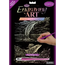 Набор для выцарапывания Holographic Engraving Art Kit,Дельфинья бухта  (HOLOG-18)