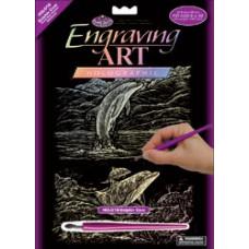 Набор для выцарапывания Holographic Engraving Art Kit,Дельфинья бухта  (HOLOG-18)