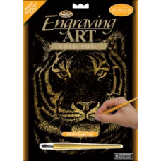 Набор для выцарапывания Gold Foil Engraving Art Kit, Бенгальский тигр (GOLF23)