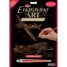 Набор для выцарапывания Copper Foil Engraving Art Kit, Истребитель (COPF25)