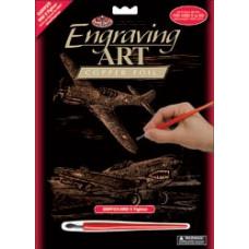 Набор для выцарапывания Copper Foil Engraving Art Kit, Истребитель (COPF25)