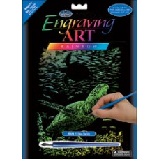 Набор для выцарапывания Rainbow Foil Engraving Art Kit, Морская черепаха (RNBWFOIL-17)